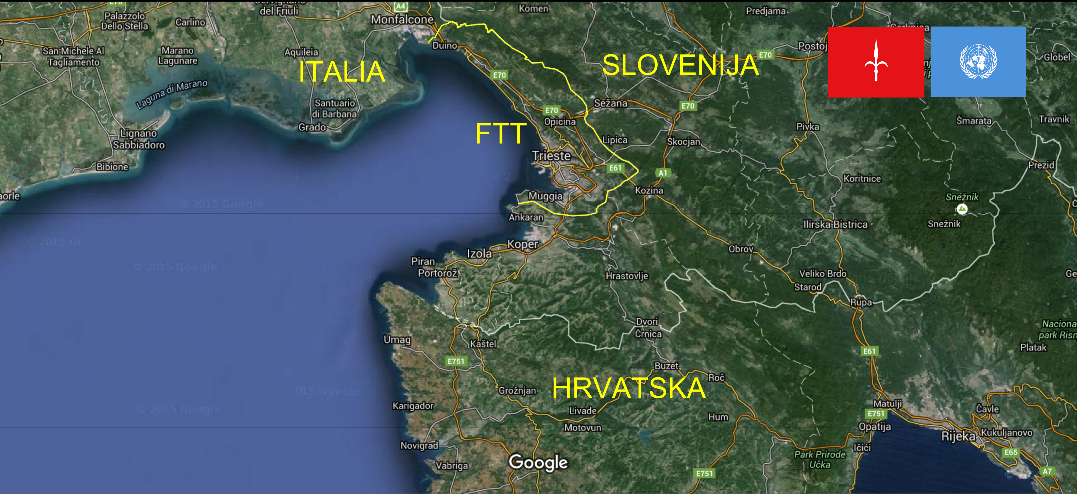 The present-day Free Territory of Trieste